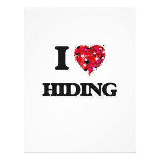 "Amo el ocultar folleto 8.5"" x 11"""