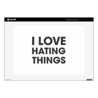 Amo el odiar de cosas 38,1cm portátil calcomanía