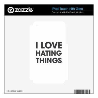 Amo el odiar de cosas calcomanías para iPod touch 4G