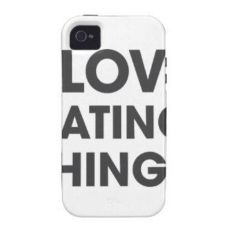 Amo el odiar de cosas carcasa Case-Mate para iPhone 4