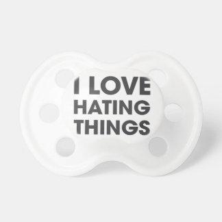 Amo el odiar de cosas chupetes para bebes