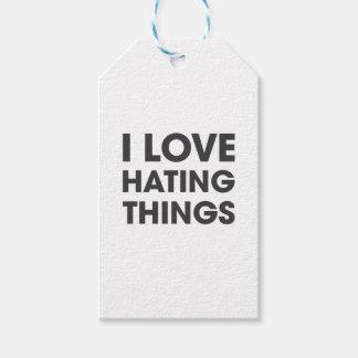Amo el odiar de cosas etiquetas para regalos