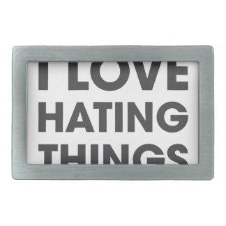 Amo el odiar de cosas hebilla cinturon rectangular