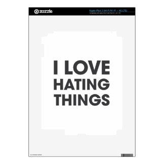 Amo el odiar de cosas iPad 3 skins