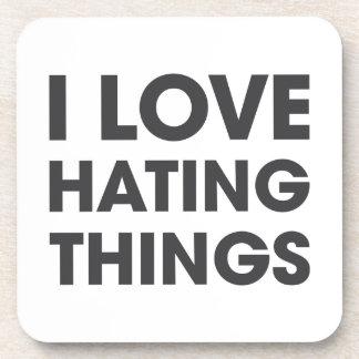 Amo el odiar de cosas posavaso