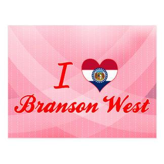 Amo el oeste de Branson, Missouri Tarjetas Postales