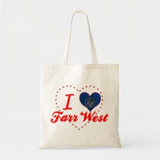 Amo el oeste de Farr Utah Bolsa De Mano