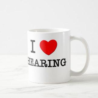 Amo el oír taza de café