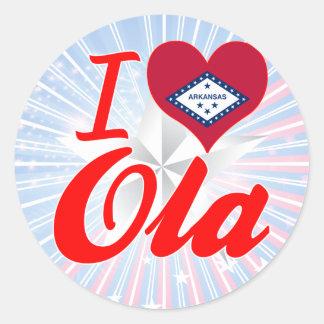 Amo el Ola, Arkansas Etiqueta Redonda