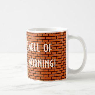 Amo el olor de 8 bits por la mañana, naranja tazas