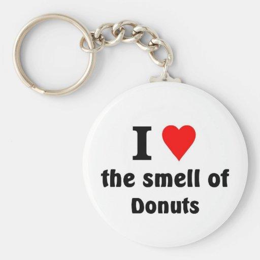 Amo el olor de anillos de espuma llavero personalizado