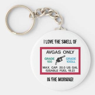 ¡Amo el olor de AVGAS por la mañana! Llavero Redondo Tipo Pin