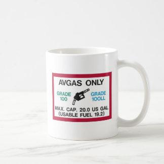 ¡Amo el olor de AVGAS por la mañana! Tazas De Café