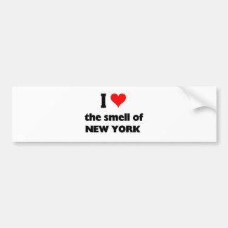 Amo el olor de Nueva York Pegatina Para Auto