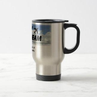 ¡Amo el olor del combustible de avión por la mañan Tazas De Café