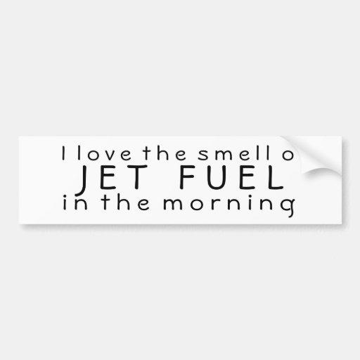 Amo el olor del combustible de avión por la mañana pegatina para auto