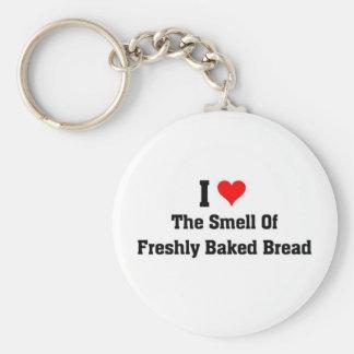 amo el olor del pan recientemente cocido llavero redondo tipo pin