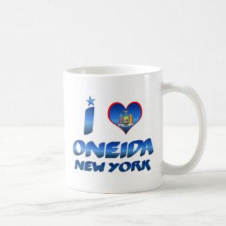 Amo el Oneida, Nueva York Taza Básica Blanca