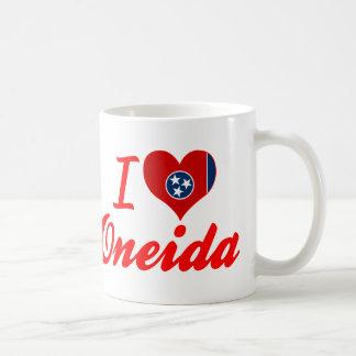 Amo el Oneida, Tennessee Taza Básica Blanca