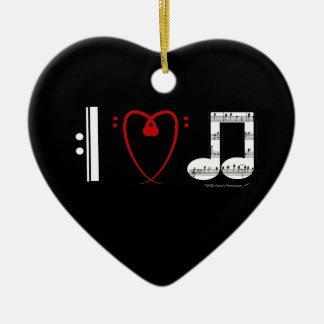 Amo el ornamento adaptable de la música (notas del ornaments para arbol de navidad
