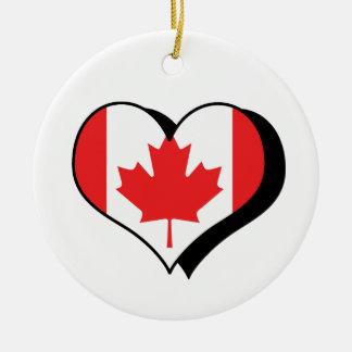 Amo el ornamento de Canadá Ornamento De Reyes Magos