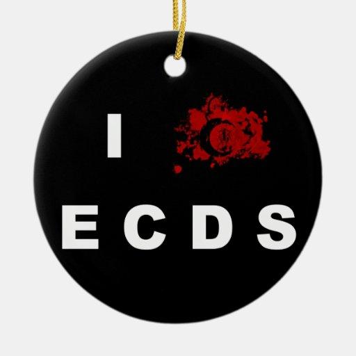 Amo el ornamento de ECDS Ornamento De Navidad