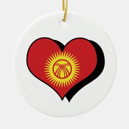 Amo el ornamento de la bandera de la República de  Ornamentos De Reyes Magos