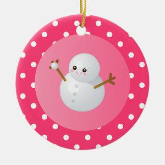 Amo el ornamento de la nieve ornamentos de navidad