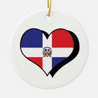Amo el ornamento de la República Dominicana Ornamento Para Arbol De Navidad