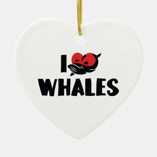 Amo el ornamento de las ballenas adornos de navidad