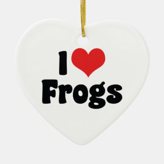 Amo el ornamento de las ranas ornamentos de reyes magos