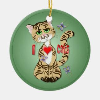Amo el ornamento de los gatos adornos