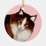 Amo el ornamento de los gatos de Coon de Maine Adorno De Navidad