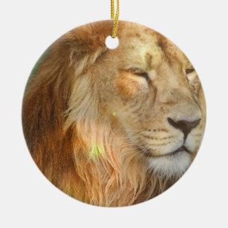 Amo el ornamento de los leones ornamento de reyes magos