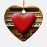 Amo el ornamento de los órganos adorno de navidad