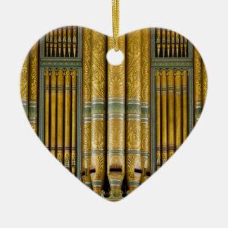 Amo el ornamento de los órganos - Birmingham Adorno Navideño De Cerámica En Forma De Corazón
