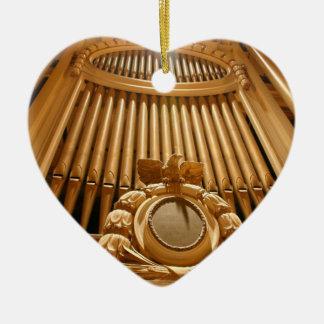 Amo el ornamento de los órganos - Leicester Adorno Navideño De Cerámica En Forma De Corazón
