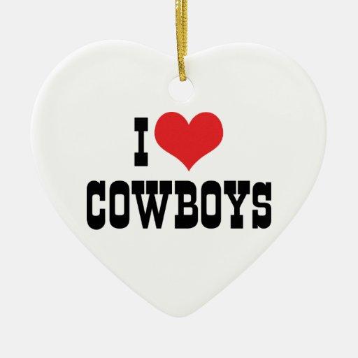 Amo el ornamento de los vaqueros adorno de cerámica en forma de corazón