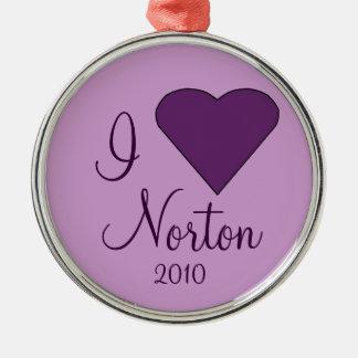 Amo el ornamento de NORTON Adorno