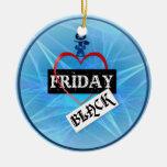 Amo el ornamento negro de viernes ornamentos de reyes magos
