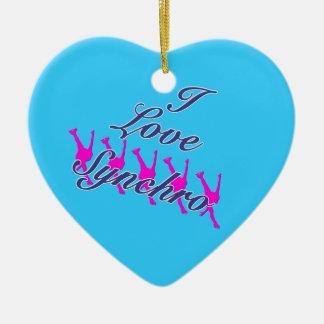 Amo el ornamento sincrónico - su parte posterior adorno de cerámica en forma de corazón
