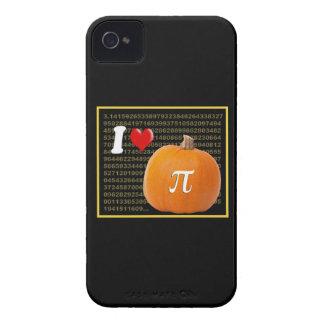 Amo el oro del pastel de calabaza y del naranja de iPhone 4 Case-Mate fundas