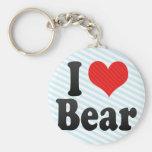 Amo el oso llavero personalizado