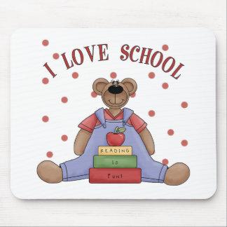 Amo el oso Mousepad de la escuela