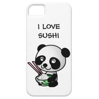 Amo el oso y el cuenco de panda lindo del sushi funda para iPhone SE/5/5s