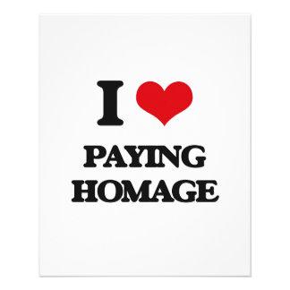 Amo el pagar de homenaje tarjeton