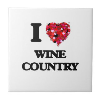 Amo el país vinícola azulejo cuadrado pequeño