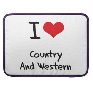 Amo el país y occidental funda para macbooks