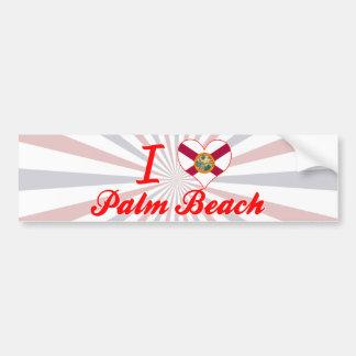Amo el Palm Beach, la Florida Pegatina De Parachoque