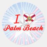 Amo el Palm Beach, la Florida Pegatina